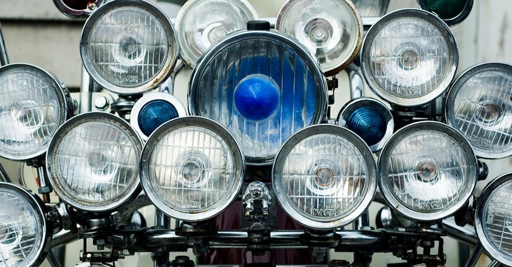Headlights on a scotter